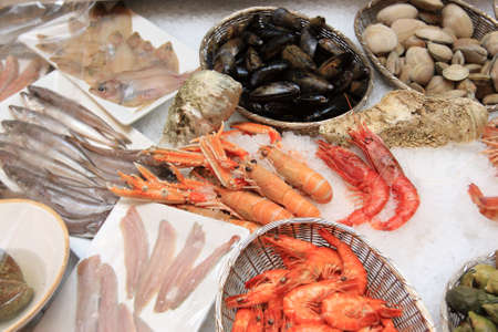 The seafood shop in restaurant  is located Moscow photo