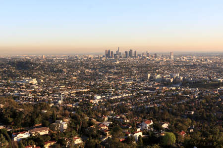 haze: Los Angeles is the largest city in the state of California Stock Photo