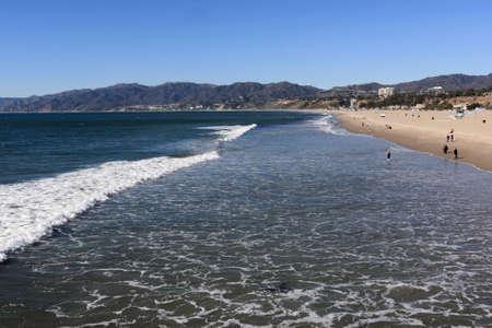 The Pacific Ocean and Santa Monica beach photo