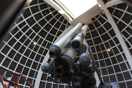 observatory: The telescope in a astronomical observatory, USA