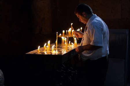 apostolic: The man in Armenian Apostolic Church, Gehard Stock Photo