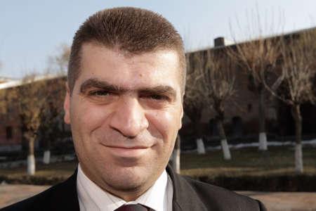 street wise: Portrait of a adult man in Yerevan, Armenia