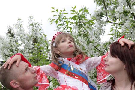 fantasque: Capricieuse fille du patron de ses parents sur le parc au printemps