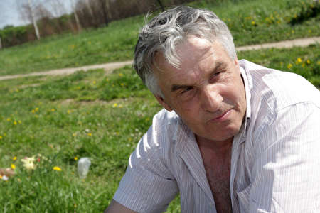 Portrait of a mature man in summer Stock Photo - 4976651
