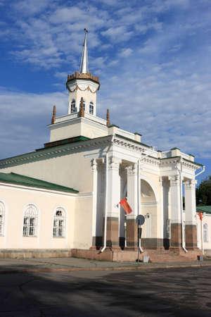 kyrgyzstan: Old Soviet building in Bishkek (capital of Kyrgyzstan)  Stock Photo
