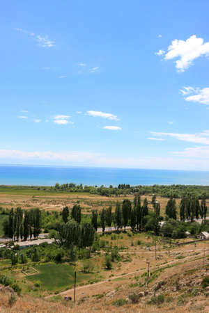 kirgizia: View on Issyk Kul lake in summer, Kirgizia