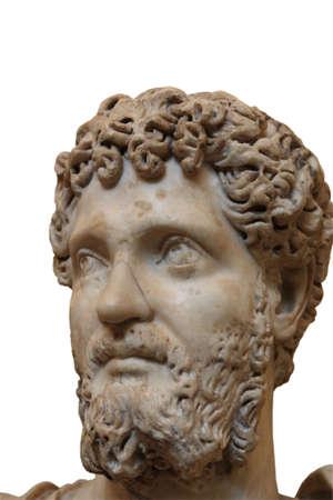escultura romana: Escultura de griego antiguo en un fondo blanco