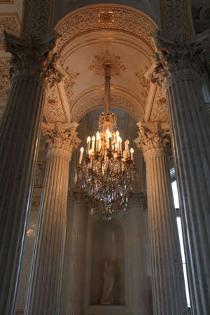 Interior of white palace, St. Petersburg, Russia photo