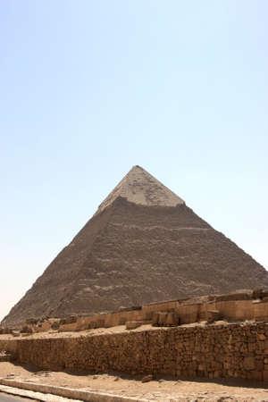 chephren: The Pyramid of Khafre is the tomb of the fourth-dynasty pharaoh Khafre Stock Photo