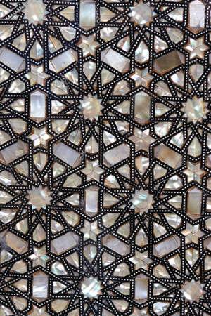 kelet ázsiai kultúra: The shining oriental ornament as background, Egypt Stock fotó