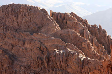 Mount Sinai (Arabic Gebel Musa) is in the middle of the Sinai Peninsula, Egypt photo