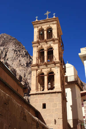 The Monastery of St. Catherine, at the foot of the mountain Sinai photo