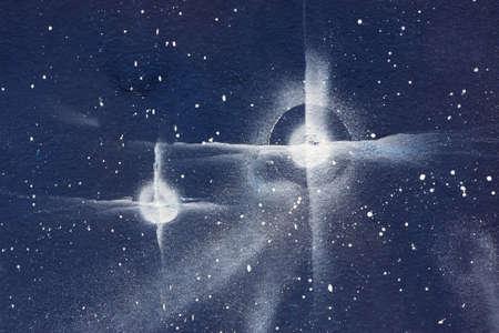 dark nebula: The sky of stars as horizontal background