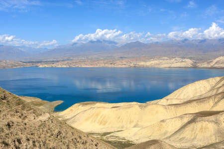 Toktogul Reservoir, located in the Jalal-Abad Province of Kyrgyzstan, is the largest of the reservoirs on the path of the Naryn River. Bishkek - Osh road photo