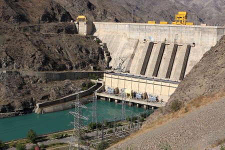 Toktogul hydroelectric power station on Naryn river, Kyrgyzstan Stock Photo - 6082068