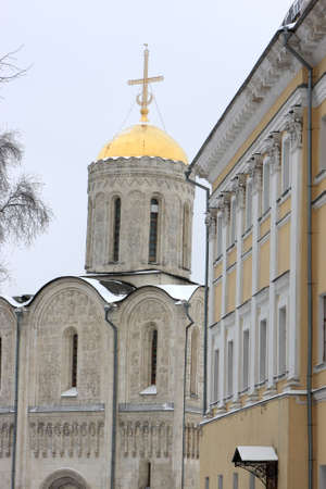 The Cathedral of St Demetrius, built by Prince Vsevolod III, is one of the most graceful and beautiful churches in Vladimir, Russia. photo