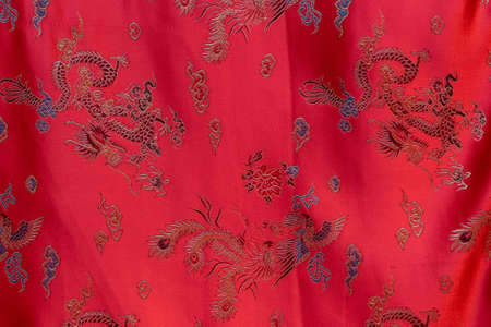 bedsheet: Red silk bedsheet in a shop as background