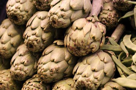 Artichokes at La Boqueria market in Barcelona, Spain photo