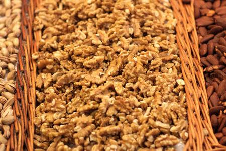 boqueria: Walnut at La Boqueria market in Barcelona, Spain