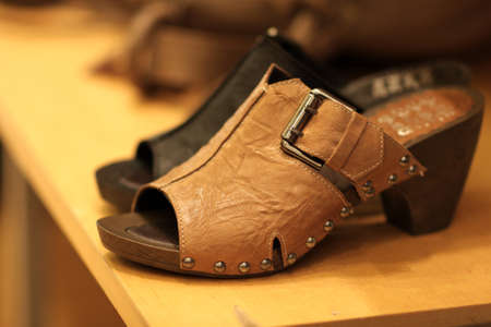 The leather sabot in a store, Barcelona Stock Photo - 7294562