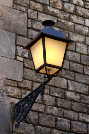 The street lamp in Gothic quarter of Barcelona photo