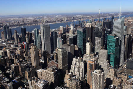 cities: View of New York City in spring