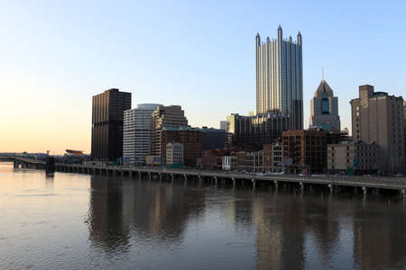 pittsburgh: This is Pittsburgh in the evening, USA, Pennsylvania  Stock Photo