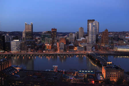 View of downtown Pittsburgh from Mount Washington photo