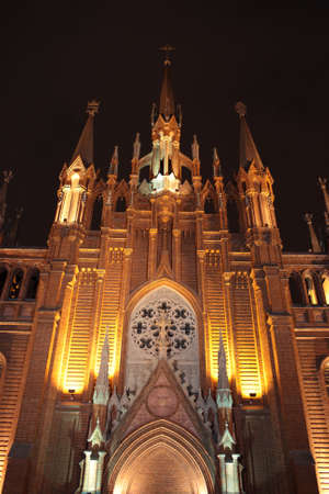 godly: The catholic Cathedral at night, Moscow, Russia