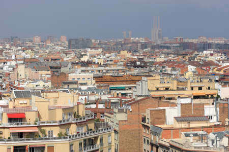 Skyline of Barcelona in the summer, Spain photo