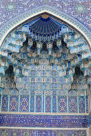 Fragment of gate Guri Amir mausoleum in Samarkand, Uzbekistan