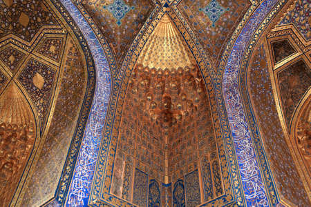 It is aksaray mausoleum in Samarkand, Uzbekistan Stock Photo - 11116893