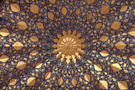 It is ceiling of Aksaray mausoleum, Samarkand, Uzbekistan