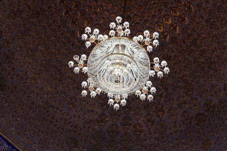 Chandelier of Guri Amir. It is a mausoleum of the Asian conqueror Tamerlane in Samarkand, Uzbekistan Stock Photo - 11116877