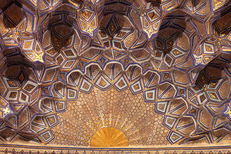 Golden cupola of Guri Amir. It is a mausoleum of the Asian conqueror Tamerlane in Samarkand, Uzbekistan