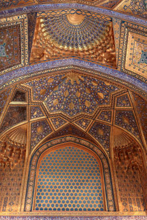 It is interior of Aksaray mausoleum, Samarkand, Uzbekistan