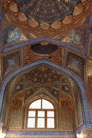 It is interior of Aksaray mausoleum, Samarkand, Uzbekistan