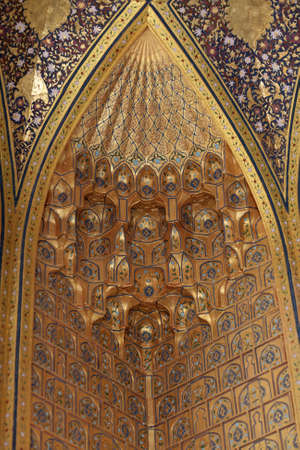 It is ornament of Aksaray mausoleum, Samarkand, Uzbekistan