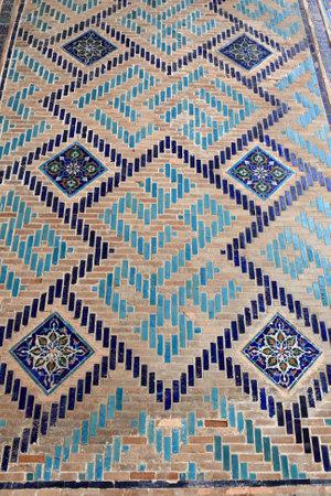 Wall of Sher Dor Madrasah in Samarkand, Uzbekistan Stock Photo - 11116906