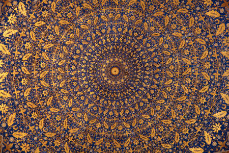 Dome of Tilya Kori Madrasah in Samarkand, Uzbekistan