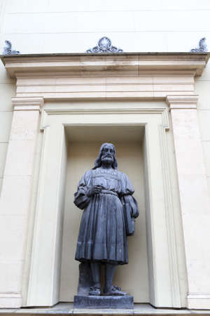Statue of Marcantonio Raimondi in Saint Petersburg. He was an Italian engraver, known for being the first important printmaker whose body of work consists mainly of prints copying paintings photo