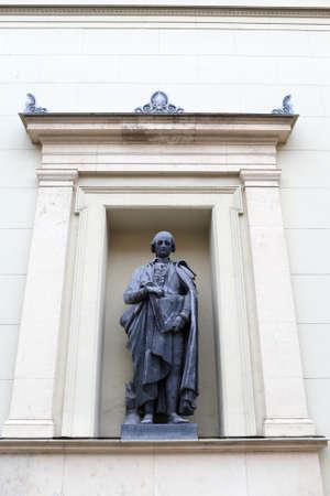 Statue of Raphael Morghen in Saint Petersburg. He was an Italian engraver photo