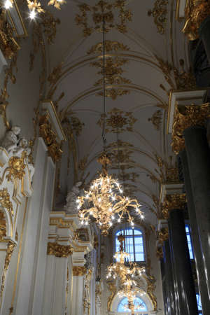 Hall after main Staircase of the Winter Palace, Saint Petersburg, Russia
