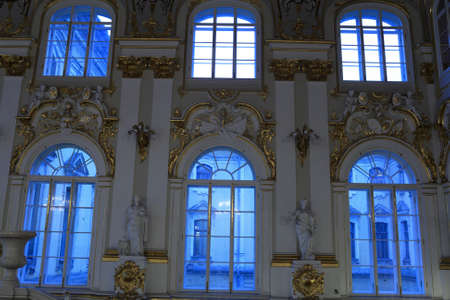 Windows of main Staircase of the Winter Palace, Saint Petersburg, Russia
