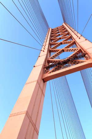 It is element of bridge on the sky background photo