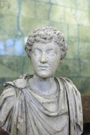 Portrait of youthful Marcus Aurelius, marble. Third quarter of the 2nd century A.D.