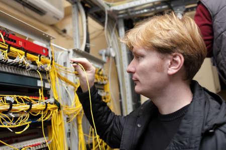 The network engineer working at a FOCL site photo