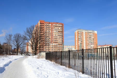 It is residential community in winter, Krasnogorsk, Russia Stock Photo - 12877222
