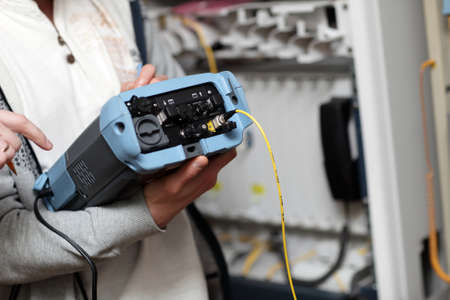 The reliability measurement of fibre optic at a telecom site photo
