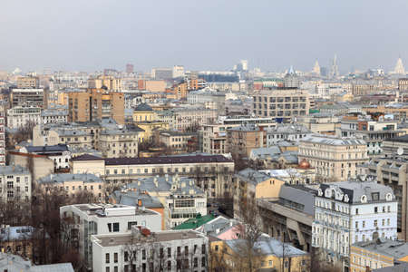 The skyline of Moscow in summer, Russia Stock Photo - 14076050
